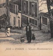 ►PARIS◄75►1924◄CPA►VIEUX MONTMARTRE►LE DERNIER PORTEUR D'EAU◄CABARET DU LAPIN AGILE◄J.H ÉDIT. N°356 - Distrito: 18