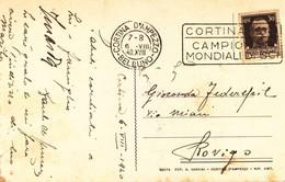 Targhetta - Cortina D' Ampezzo - Cortina Campionati Mondiali Di SCI - 1900-44 Victor Emmanuel III