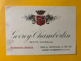 13538 - Gevrey-Chambertin Petite Chapelle - Bourgogne