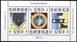 Schweden, 1990, 1630/32,  MNH **, 150 Jahre Fotografie. - Svezia