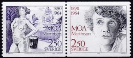 Schweden, 1990, 1637/38,  MNH **, Moa Martinson. - Sweden