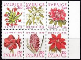 Schweden, 1990, 1643/48,  MNH **, Weihnachten: Blumen. - Svezia