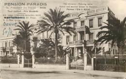 NICE - Pension Paradis, 74 Promenade Des Anglais. - Cafés, Hôtels, Restaurants