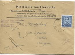 REF942/ TP 926 Baudouin Lunettes S/L.Ministerie Financiën Kadaster C.Brugge 26/10/59 Terugbetaling 22 Frs > Waregem - Belgien
