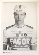 Postcard Frank Hoste - Fagor (black&white-serie) - 1987 - Cycling