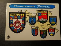 Blason écusson Adhésif Autocollant Vendée La Roche Sur Yon Les Sables Wappen Coat Of Sticker Adesivo Adhesivo - Obj. 'Remember Of'
