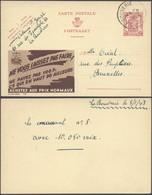 """Publibel N°721 """"Achetez Au Prix Normaux"""" Voyagé De La Bouverie (1948) > Bruxelles - Publibels"""