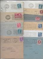 75 PARIS  51  Lot De  32  Flammes  De 1924 à 1956 - Marcophilie (Lettres)