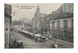 CPA 62 SAINT POL La Place D' Eglise Un Jour De Marché - Saint Pol Sur Ternoise