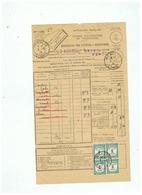 TAXES RECOUVREMENTS N° 60 X 4 POUR MEAULTE (SOMME ) 1934 - 1960-.... Briefe & Dokumente