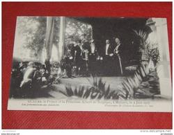 MECHELEN - MALINES - Roi Albert I Et Elisabeth En Visite En1907 - Les Présentations Des Autorités - Familles Royales
