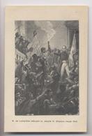 RÉVOLUTION De 1848 - M. De Lamartine Refusant Au Peuple Le Drapeau Rouge 1848  - Gravure - History