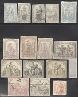 Lot De Timbres Fiscaux Anciens Espagne 19ème Siècle - Bon état - Sellos Del Siglo XIX - Fiscales