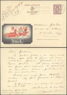 """Publibel N°877 """"Torck"""" Voyagé De Liège > St-Nicolas / Thématique : St-Nicolas - Enteros Postales"""