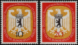 ✔️ West Berlin 1955 - Bundestag - Mi. 129/130 ** MNH - €7 - Unused Stamps