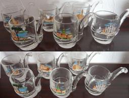 Lot De 6 Petits Verres à Digestif Décor Ville Italie - Glasses