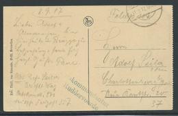 Feldpostkarte Met Stempel Ortskommandantur  Ruddervoorde - Guerre 14-18