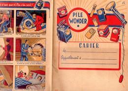 Protège Cahier PILE WONDER  Avec Petite BD Au Plat Inf  (PPP11854) - Piles