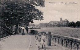 Breslau, Oderpartie Mit Sandkirche, 1913. (Wroclaw, Odra, Kościół Najświętszej Marii Panny Na Piasku). - Pologne