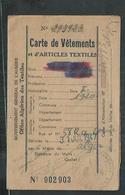 Carte De Vètements Et D'articles Textiles Alger (Algérie) - Documents Historiques