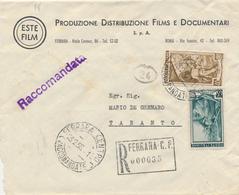 ITALIA AL LAVORO REGIONI D'ITALIA RACCOMANDATA 65+40 - 6. 1946-.. República