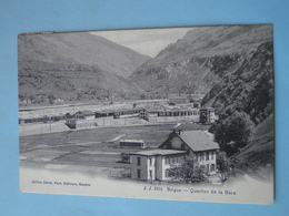 Cpa Suisse -- BRIGUE Ou BRIG -- Quartier De La Gare - Cpa Circulé En 1906 - VS Valais