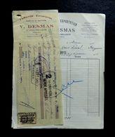 Lot 3 Documents Commerciaux  V. DESMAS  Produits De Bretagne à St Pol De Léon - 1935 - 1900 – 1949