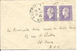 Petite Lettre De Lille à St Omer Du 11/10/1945 - 1944-45 Maríanne De Dulac