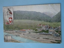 Cpa Suisse -- BRIGUE Ou BRIG -- Vue Générale - Gesamtansich - Cpa Circulé 1906 - VS Valais