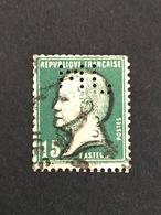 FRANCE M N° 171 Pasteur ML 75 Indice 6 Perforé Perforés Perfins Perfin Tres Bien !! - France