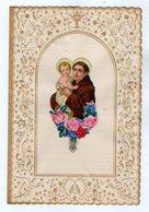 VP17.040 - Lettre - Superbe Papier Lettre Gaufré Anges & Découpi Image Religieuse - Angels