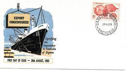 AUSTRALIE PREMIER JOUR FDC 1963 EXPORT - Premiers Jours (FDC)