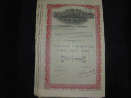 """Part""""Cie Belgo Congolaise D'alimentation Et De Commerce"""" Comali Anvers/Antwerpen 1927 Congo - Afrique"""