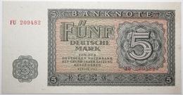 Allemagne De L'Est - 5 Deutsche Mark - 1955 - PICK 17 - SPL - [ 6] 1949-1990 : RDA - Rép. Dém. Allemande