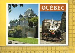 CPM  CANADA , QUEBEC : 2 Vues, Chateau Frontenac, Musée Du Fort - Québec - Les Rivières
