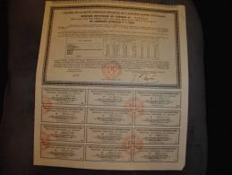 Recepissé Provisoire De L'emprunt Ottoman 1909 Paris 1933 Bon état,avec Tous Les Coupons - Banque & Assurance