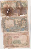 4 Billets De France - 1871-1952 Anciens Francs Circulés Au XXème