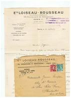 MAISON Et LOISEAU - ROUSSEAU CONTRE LA VIE CHERE PARIS POUR RAMBOUILLET ( S& O ) 1944 - Alimentaire