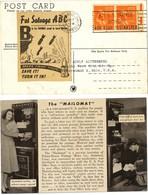 ETATS UNIS AMERIQUE CP CLEVELAND OHIO 1946 PUB IS FOR BOMBS USED TO BURN BERLIN 1946 LETTERS LETTRE VOIR LES SCANS - Vereinigte Staaten