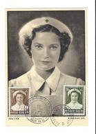 Nr 912-13 Op Postkaart Uitgifte Van Het Belgische Rode Kruis Overstroming 1953 - Marcophilie