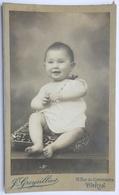PHOTO ORIGINALE PORTRAIT CDV CABINET ENFANT NOURRISSON PARIS GROYSILLIER 15 RUE DU COMMERCE PHOTOGRAPHIE D'ART - Fotos
