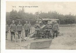 CPA , Th. Militaire , Pièce De 120 Long Et Servants , Ed. A.L. - Matériel