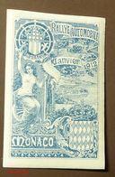 Werbemarke Cinderella Poster Stamp  Monaco Rallye Automobile 1912  #112-blau - Erinnofilia