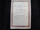 """Reconnaissance De Pret De 1000F""""Sté Du Cabinet Littéraire De Verviers""""1948 Etat Impeccable,avec Tous Les Coupons - Casino"""