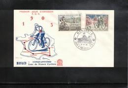 Monaco 1963 Cycling Tour De France FDC - Ciclismo