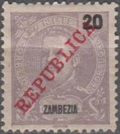 Correios Portugal Reis Surcharges Republica Zambezia 20 - Zambèze
