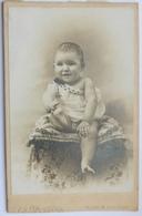 PHOTO ORIGINALE PORTRAIT CDV CABINET ENFANT NOURRISSON PARIS PERRON 15 RUE DU COMMERCE - Fotos