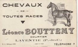 Carte Publicitaire LAVENTIE CHEVAUX - Sonstige Gemeinden