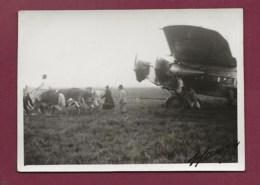 180420 - PHOTO Année 1937 - AVIATION Avion BRESIL PORTO ALEGRE Accident AJBI Remorquage - Autographe Aéropostale - Luftfahrt