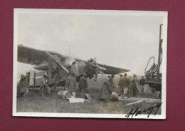 180420 - PHOTO Année 1937 - AVIATION Avion BRESIL PORTO ALEGRE Accident - Aéropostale Autographe - Aviation